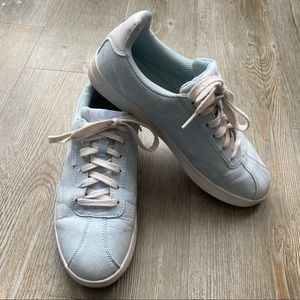 CHAMPION | Baby Blue Faux Suede Sneakers